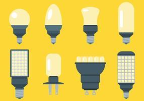 Ícones de vetor de luzes LED