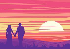 Fundo do vetor do casamento de praia