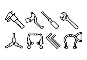 Pack de ícones de engrenagem de bicicleta vetor