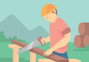 Vector de comerciante de carpinteiro