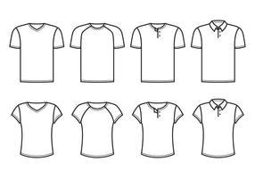 Camiseta do pescoço de v vetor
