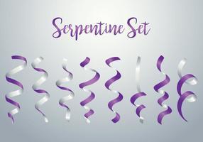 Conjunto Serpentina vetor