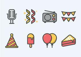 Conjunto de ícones da festa vetor