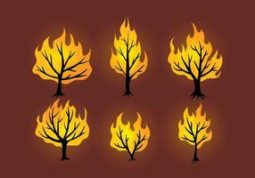 Vetor livre de arbustos em chamas