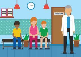 Ilustração vetorial do pediatra vetor