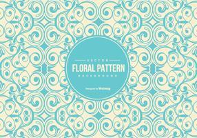 Fundo de padrão floral vintage vetor