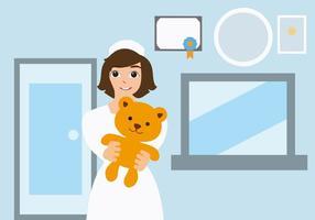 Ilustração feminina livre do vetor do pediatra
