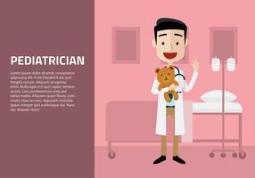 Pediatra com vetor livre de boneca