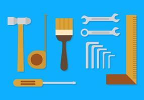Vetores de ferramentas planas