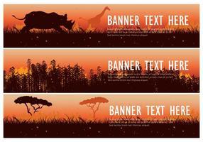 Vector de Pacote de Banner da Web Burning Bush