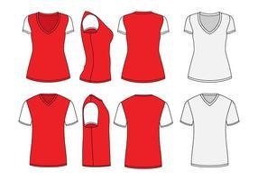 Molde da camisa do pescoço de V vetor