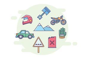 Ícones Off-Road vetor