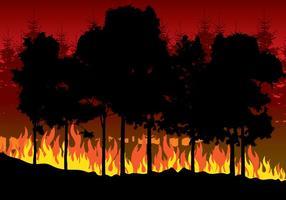 Ilustração de incêndios florestais vetor