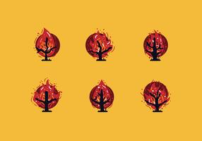Vetor de arbustos de queima livre