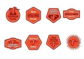 Vetores de emblemas de asas de búfalo