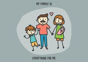 Minha família é tudo para mim vetor