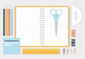Elementos de vetor de espaço de trabalho de negócios gratuitos