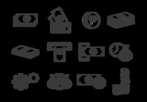 Vetor de ícones do peso