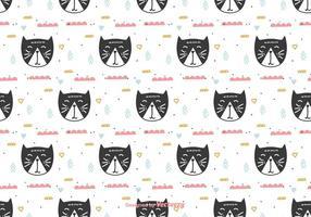 Padrão de gatos do Doodle vetor