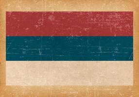 Bandeira do Grunge da República Srpska vetor