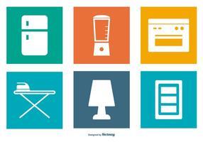 Coleção de ícones de elementos domésticos