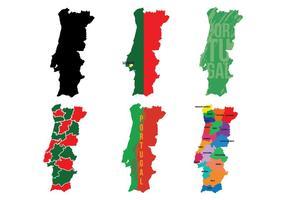 Vetor de mapa de Portugal