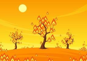 Vetor livre de árvores ardentes