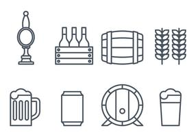 Ícones de cerveja vetor