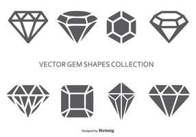 Coleção de formas de gema vetorial vetor