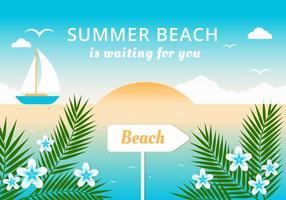 Plano de verão plano plano de verão vetor