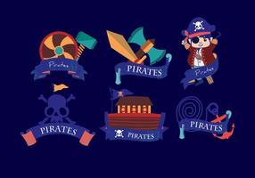 Pirata bandeira azul escuro vetor