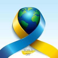 dia mundial da síndrome de down com conceito de crianças pequenas vetor