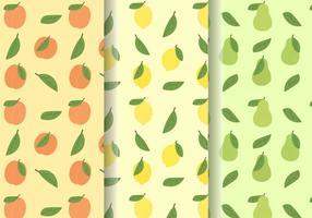 Padrões de fruta fofos grátis vetor
