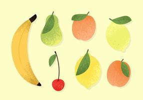 Vetores de fruta fofos grátis