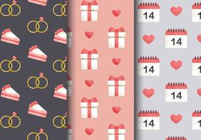 Free Cute Valentine's Day Patterns vetor