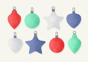 Decorações gratuitas de Baubles de Natal vetor