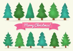 Árvores de Natal grátis vetor