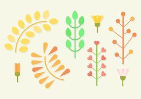 Vetor de plantas planas grátis