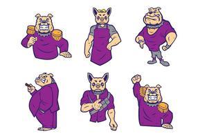 Vetor do logotipo dos bulldogs