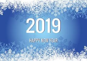Ilustração do ano novo de 2018