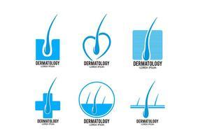 Modelo de logotipo de dermatologia vetor