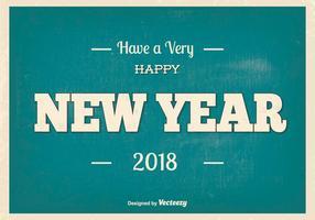 Ilustração retro de Ano Novo de 2018