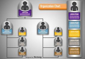 Gráfico de organização moderna do vetor