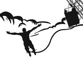 Vetor de silhueta de salto com mola