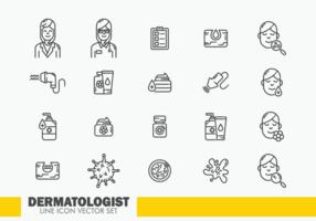 Vetor de ícones de dermatologia