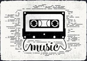 Ilustração de vetores de cassette de áudio vintage grátis