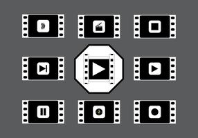 Filme silencioso vintage preto e branco vetor