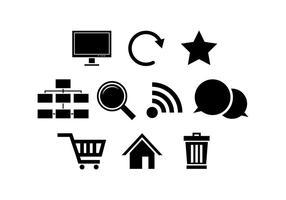 Vetor de ícone de silhueta de internet grátis