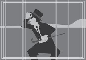 Filme silencioso Charlie Chaplin Vector