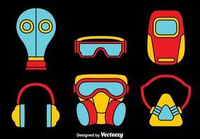 Máscara de gás e vetor de elemento respirador